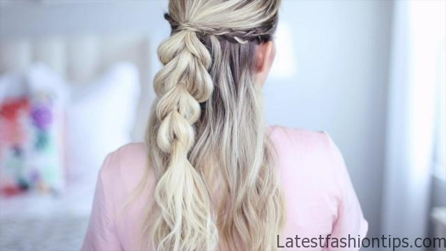 4 in 1 Pull-Thru Braid _ Cute Girls Hairstyles_HD720 02