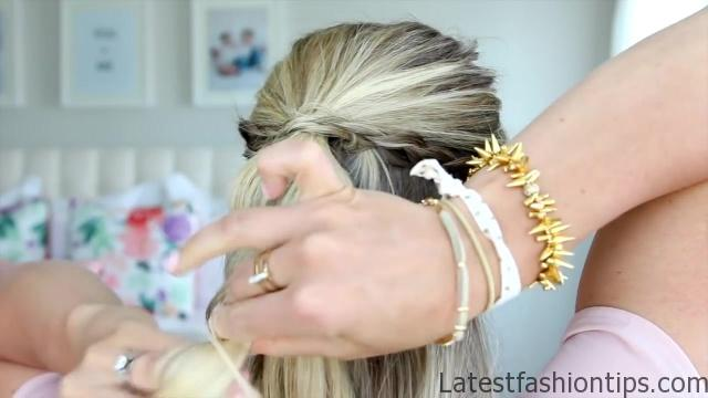 4 in 1 Pull-Thru Braid _ Cute Girls Hairstyles_HD720 07