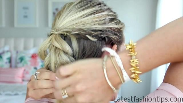 4 in 1 Pull-Thru Braid _ Cute Girls Hairstyles_HD720 09
