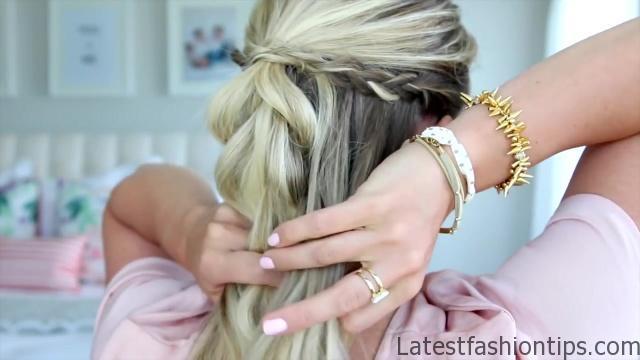 4 in 1 Pull-Thru Braid _ Cute Girls Hairstyles_HD720 11