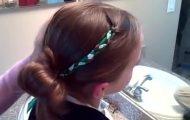 Accent Braid into Messy Bun _ Cute Girls Hairstyles_360P 14