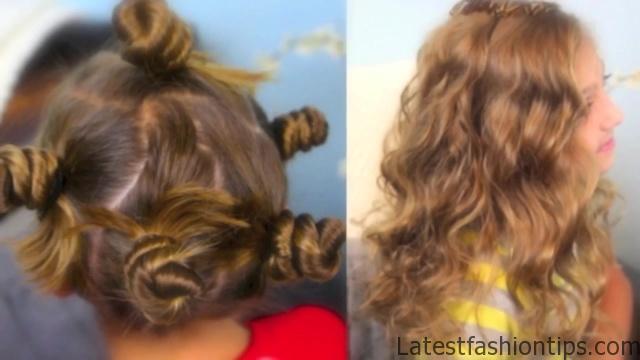 Bantu Knot Curls _ Easy No-Heat Curls _ Cute Girls Hairstyles_HD720 04