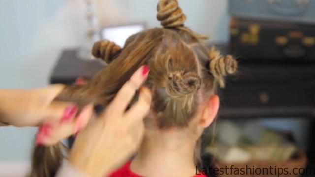 Bantu Knot Curls _ Easy No-Heat Curls _ Cute Girls Hairstyles_HD720 14