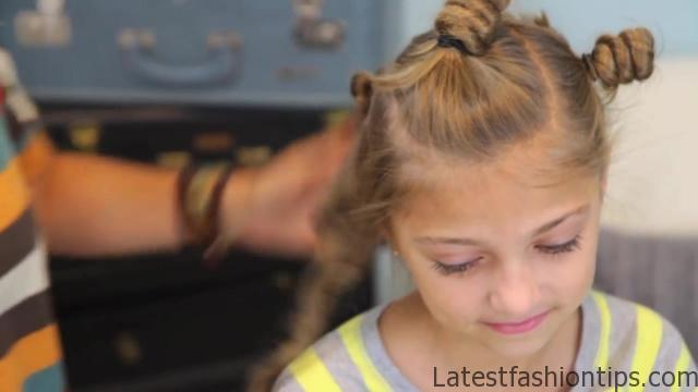 Bantu Knot Curls _ Easy No-Heat Curls _ Cute Girls Hairstyles_HD720 17