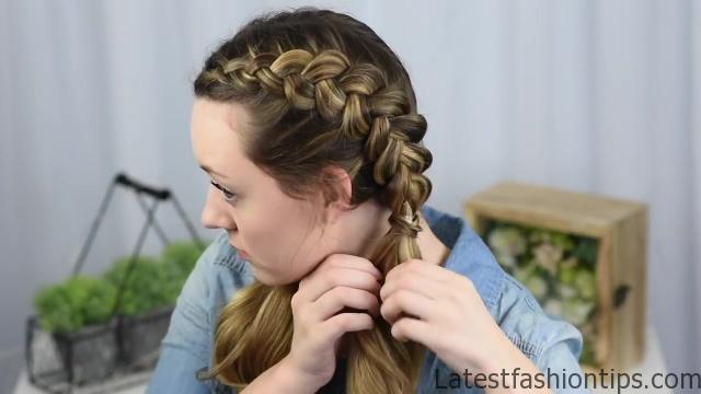 Beautiful Double Dutch Fishtails _ DIY Hair Tutorials_HD720 07