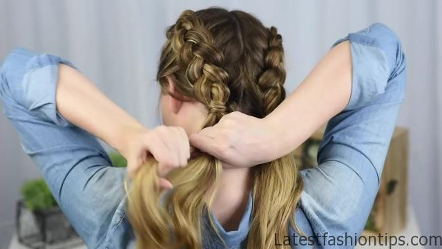 Beautiful Double Dutch Fishtails _ DIY Hair Tutorials_HD720 08