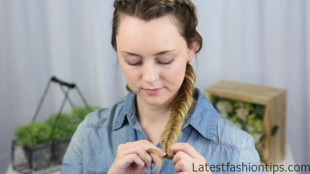 Beautiful Double Dutch Fishtails _ DIY Hair Tutorials_HD720 10