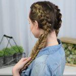 Beautiful Double Dutch Fishtails _ DIY Hair Tutorials_HD720 11