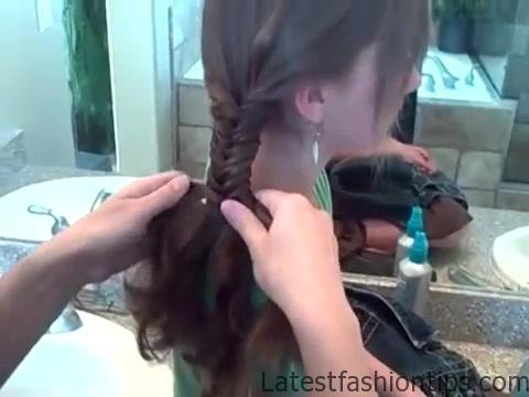 Bohemian Fishtail Braid _ Long Hair _ Cute Girls Hairstyles_360P 11