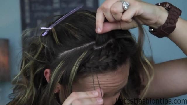 Bow Braid Headband {DIY} _ Catching Fire _ Hunger Games Hairstyles_HD720 09