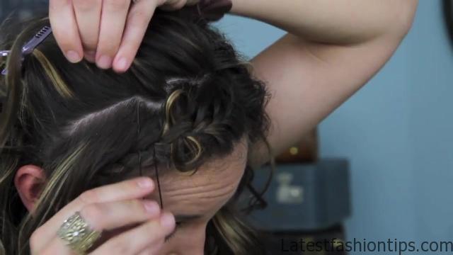 Bow Braid Headband {DIY} _ Catching Fire _ Hunger Games Hairstyles_HD720 12