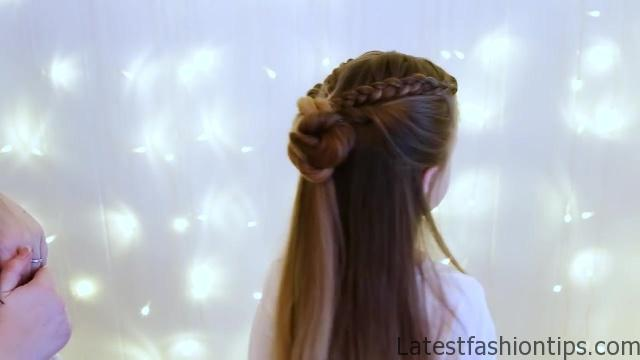 Braid Bun Combo _ Cute Girls Hairstyles_HD720 12