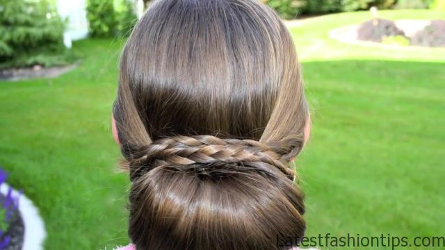 Braid-Wrapped Chignon _ Updos _ Cute Girls Hairstyles_HD720 03