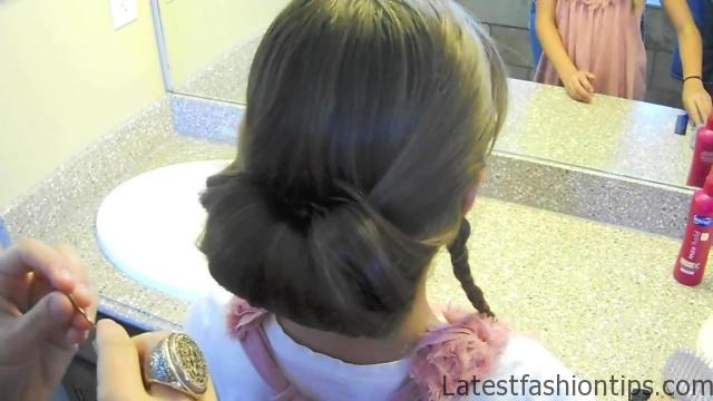Braid-Wrapped Chignon _ Updos _ Cute Girls Hairstyles_HD720 11