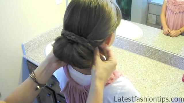 Braid-Wrapped Chignon _ Updos _ Cute Girls Hairstyles_HD720 12