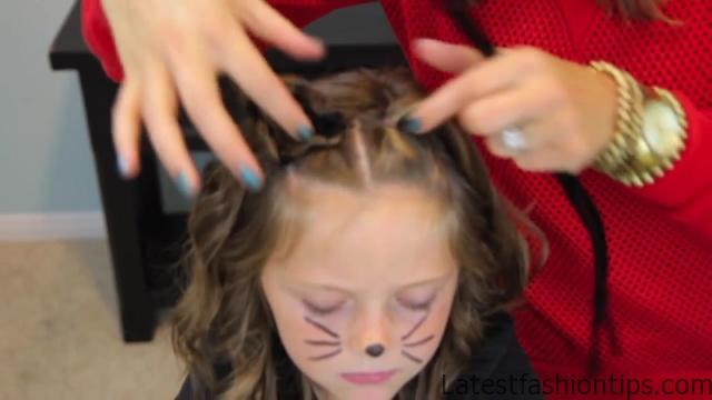 Braided Cat Ears _ Halloween Hairstyles _ Cute Girls Hairstyles_HD720 04