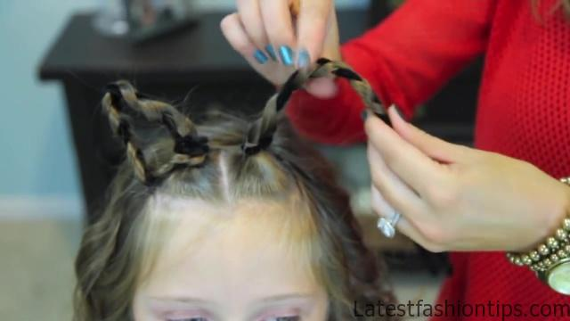 Braided Cat Ears _ Halloween Hairstyles _ Cute Girls Hairstyles_HD720 08