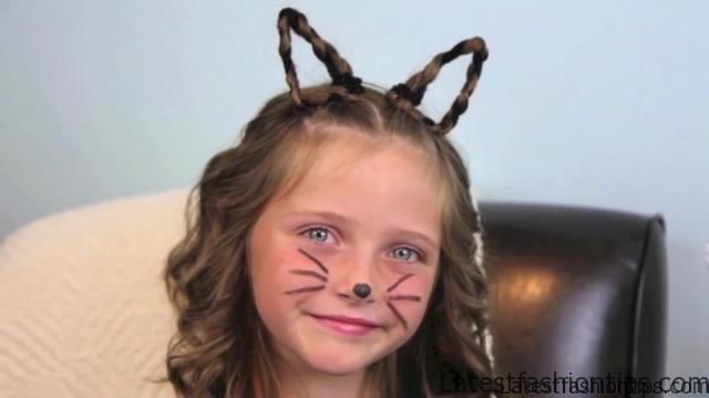 Braided Cat Ears _ Halloween Hairstyles _ Cute Girls Hairstyles_HD720 12