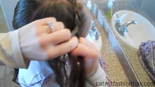 Braided Headband into Rose _ Long Hair _ Cute Girls Hairstyles_HD720 08
