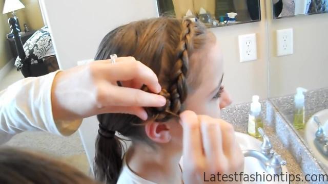 Braided Headband into Rose _ Long Hair _ Cute Girls Hairstyles_HD720 14