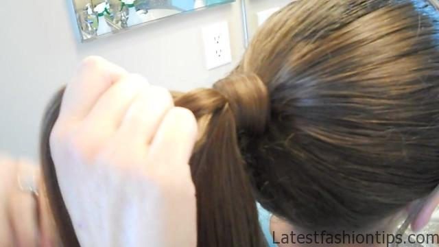 Braided-Over Ponytail _ Cute Girls Hairstyles_HD720 05