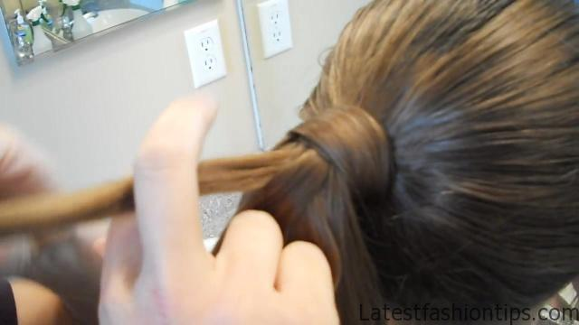 Braided-Over Ponytail _ Cute Girls Hairstyles_HD720 06