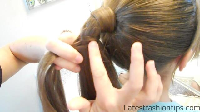 Braided-Over Ponytail _ Cute Girls Hairstyles_HD720 09