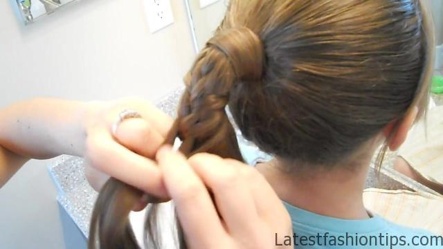 Braided-Over Ponytail _ Cute Girls Hairstyles_HD720 10