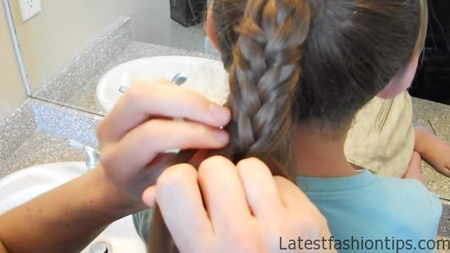 Braided-Over Ponytail _ Cute Girls Hairstyles_HD720 12