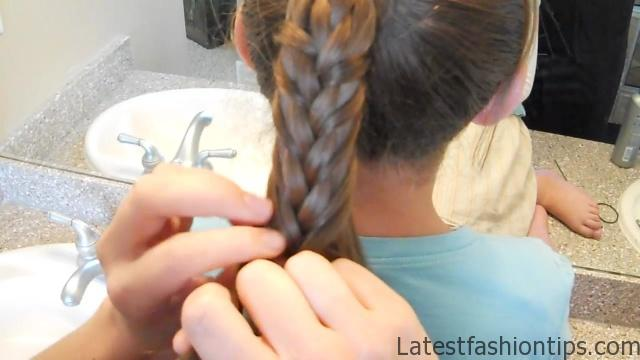 Braided-Over Ponytail _ Cute Girls Hairstyles_HD720 13