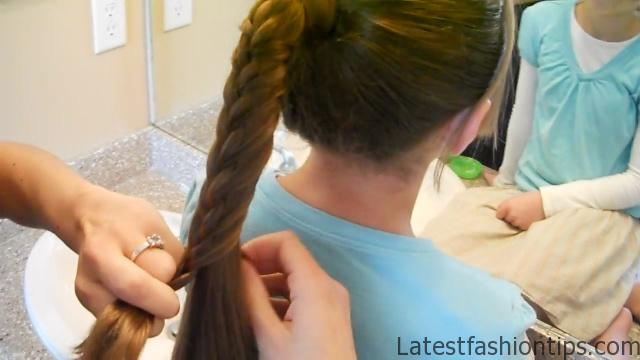 Braided-Over Ponytail _ Cute Girls Hairstyles_HD720 15