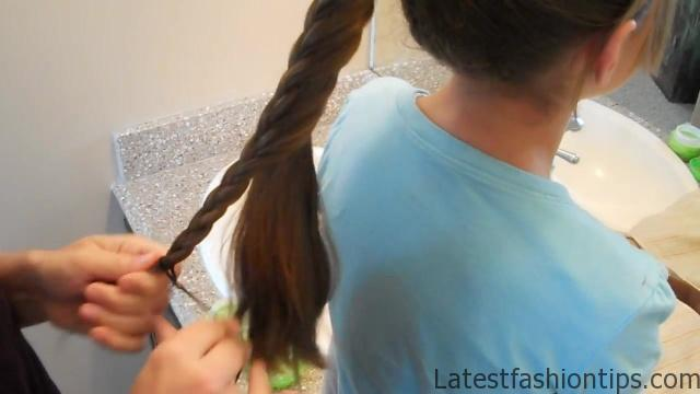 Braided-Over Ponytail _ Cute Girls Hairstyles_HD720 16