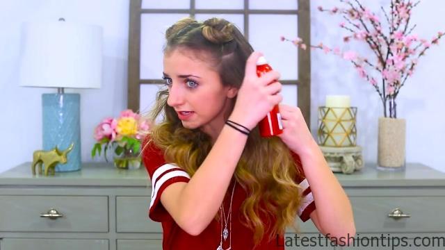 Brooklyn's Double-Bun Half Up Hairstyle & HAIR HACK _ Cute Girls Hairstyles Tutorial_HD720 16
