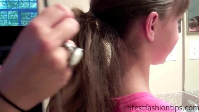 Bubble Ponytail _ Long Hair _ Cute Girls Hairstyles_HD720 05