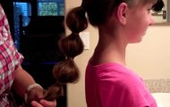 Bubble Ponytail _ Long Hair _ Cute Girls Hairstyles_HD720 12