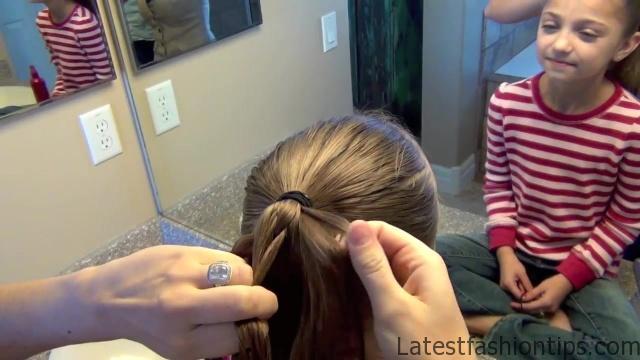 Cage Braid Ponytail _ Popular Braids _ Cute Girls Hairstyles_HD720 06