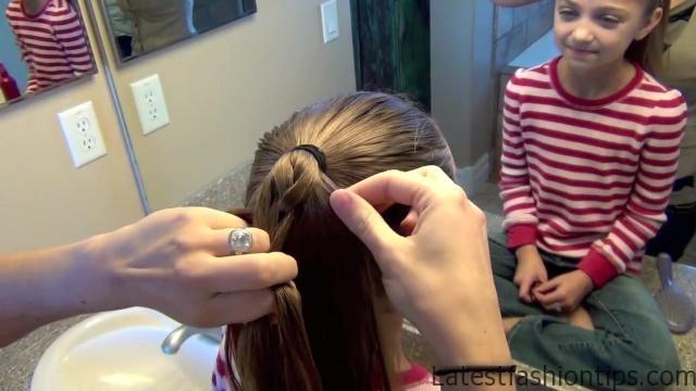 Cage Braid Ponytail _ Popular Braids _ Cute Girls Hairstyles_HD720 07