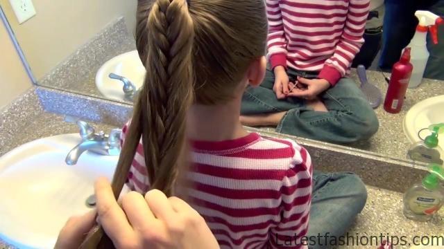 Cage Braid Ponytail _ Popular Braids _ Cute Girls Hairstyles_HD720 12