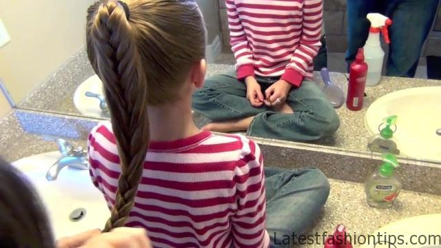 Cage Braid Ponytail _ Popular Braids _ Cute Girls Hairstyles_HD720 13