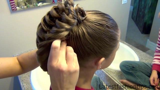 Cage Braid Ponytail _ Popular Braids _ Cute Girls Hairstyles_HD720 16
