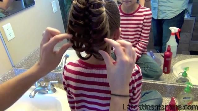 Cage Braid Ponytail _ Popular Braids _ Cute Girls Hairstyles_HD720 17