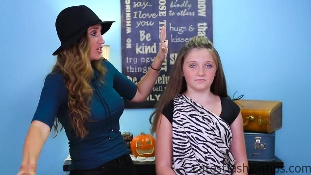 Cave Woman Half-up _ Halloween Hairstyles _ Cute Girls Hairstyles_HD720 07