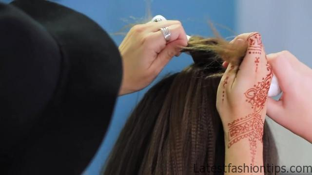 Cave Woman Half-up _ Halloween Hairstyles _ Cute Girls Hairstyles_HD720 10