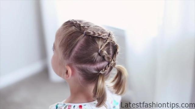 Criss Cross Braid _ Back to School Hairstyles _ Cute Girls Hairstyles_HD720 02