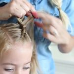 Criss Cross Braid _ Back to School Hairstyles _ Cute Girls Hairstyles_HD720 07