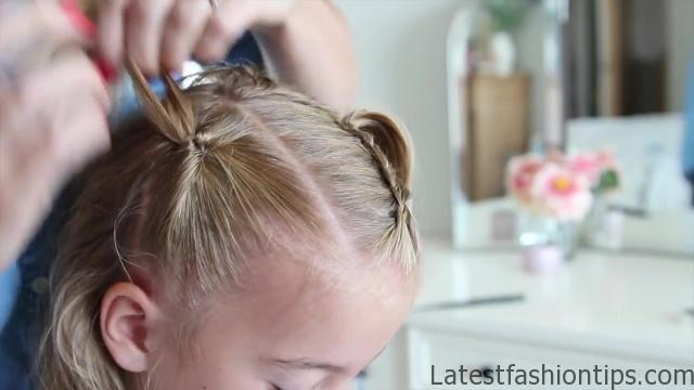 Criss Cross Braid _ Back to School Hairstyles _ Cute Girls Hairstyles_HD720 09