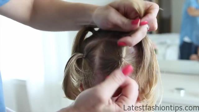 Criss Cross Braid _ Back to School Hairstyles _ Cute Girls Hairstyles_HD720 10