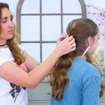 Criss Cross Ponytail Hairstyle _ Hairstyles for School_HD720 08