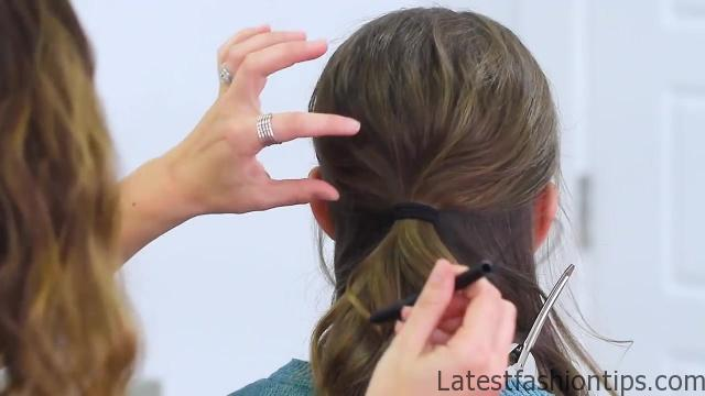 Criss Cross Ponytail Hairstyle   Hairstyles for School HD720 09 Criss Cross Ponytail Hairstyles for School