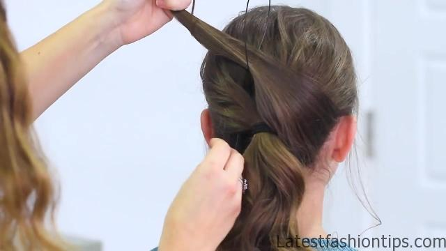 Criss Cross Ponytail Hairstyle _ Hairstyles for School_HD720 10